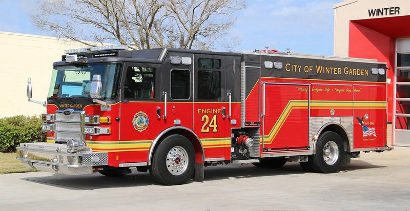 Engine 24.  2019 Pierce Enforcer PUC.  1500 / 750