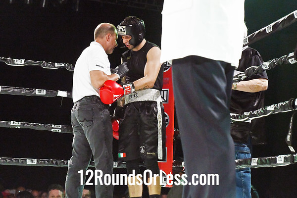 Bout #8:   Nick Duganier (Red Gloves)   vs   Ben Cottrell (Blue Gloves), 165 Lbs., 3 Rounds