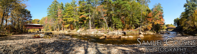 The Swift River, between the two covered bridges