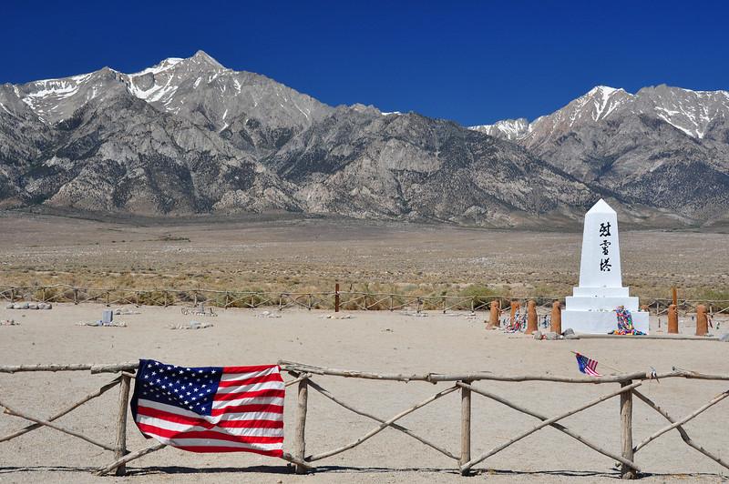 A Japanese memorial at Manzanar.