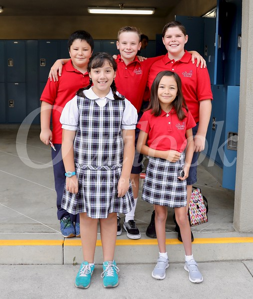 Juliet Martinez (front row, from left) and Claire Federico. Back, Jonathan Roesner, Nolan Ary and Ryan LaReau.jpg