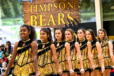 Timpson Bear pep rally scenes prior to Senior Night recognitions