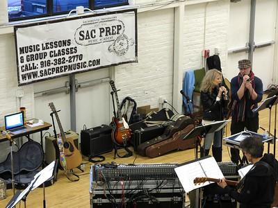 Sac Prep Music Academy Rehearsal at CLARA 11 24 18