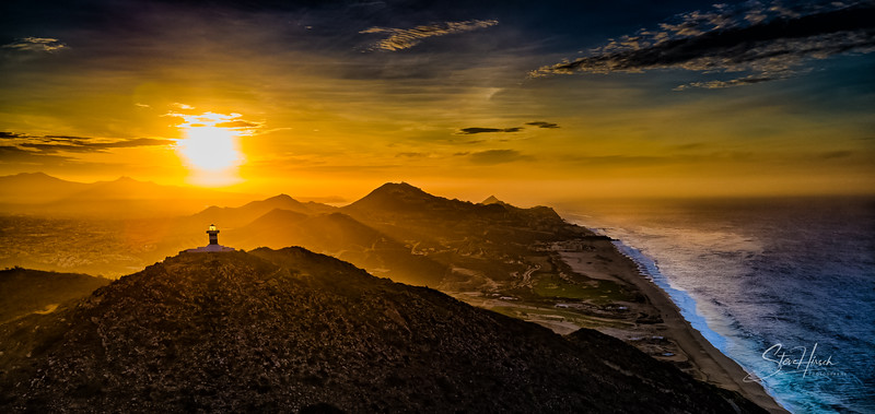 Cabo drone sunrise