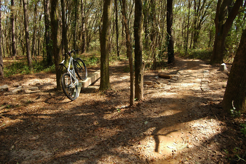 Ed added a couple mini ramps at the 8X8. We're on Upper K-9 due south of the BMX Track.