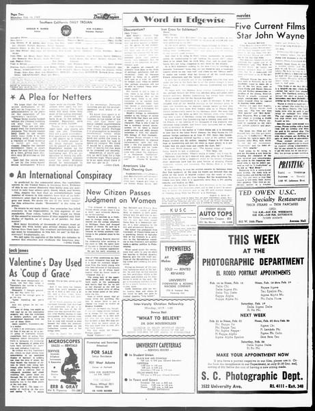 Daily Trojan, Vol. 40, No. 78, February 14, 1949