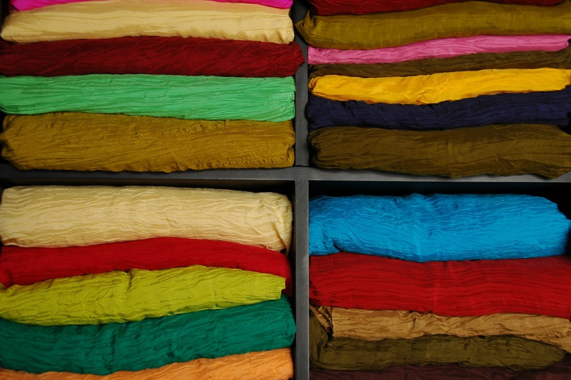 Colorful Fabrics - Hoi An, Vietnam
