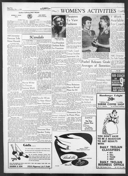 Daily Trojan, Vol. 42, No. 33, November 01, 1950