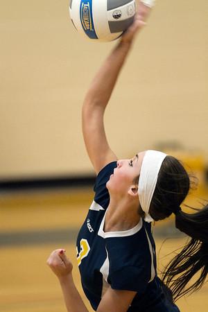 St. Charles varsity volleyball vs Valley Lutheran 20121024