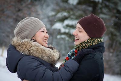 Justin and Mami - Mosinee Engagement Photography