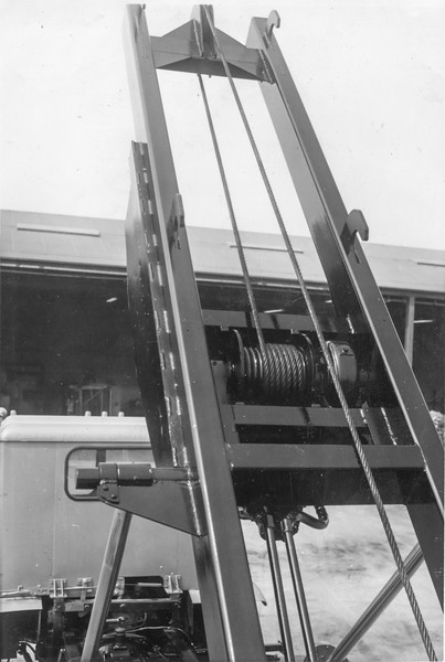 Detail of the Winch mounted in the Frame