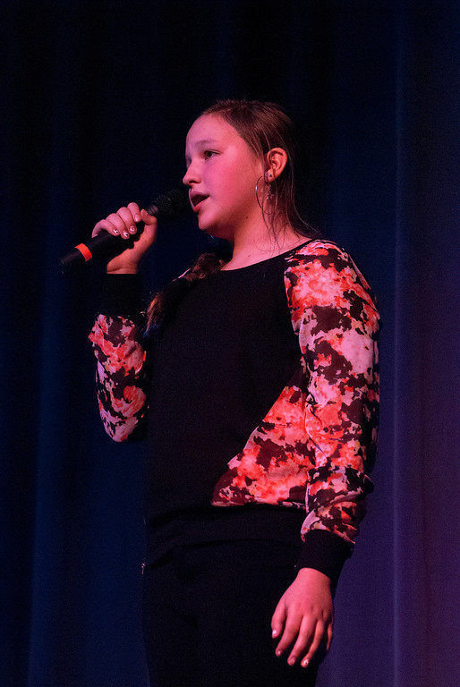 . Kayla Rice/Reformer Lauryn Sargent performs during the Winter Carnival variety show on Tuesday evening.