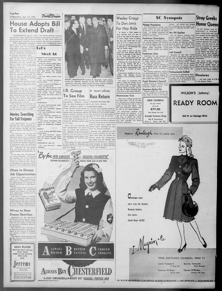 Daily Trojan, Vol. 37, No. 103, April 10, 1946
