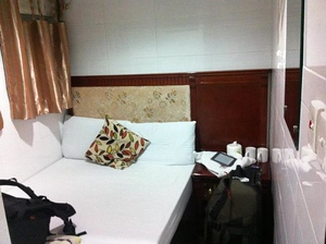 My room at the Chungking Mansion