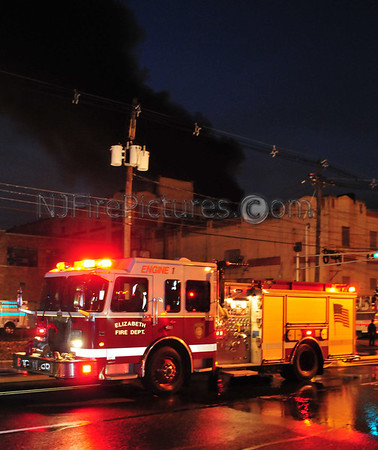 ELIZABETH, NJ 7-ALARM FIRE  819 NEWARK AVE 12/22/11