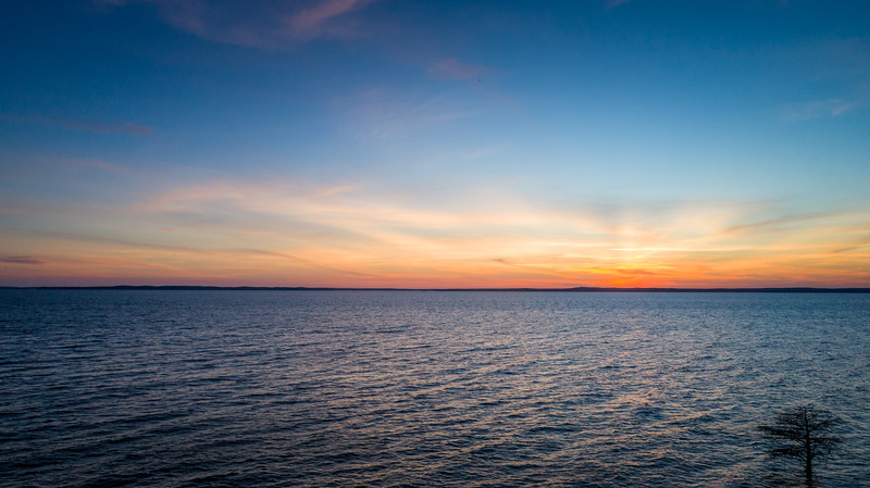 Sunset over Toledo Bend Lake