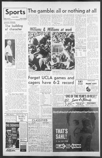 Daily Trojan, Vol. 58, No. 59, January 04, 1967