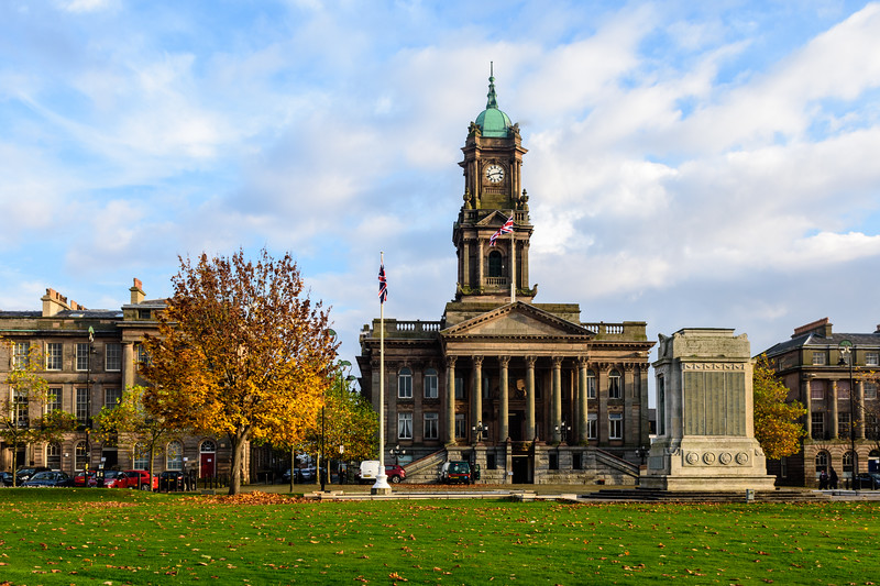 Birkenhead Town Hall in Hamilton Square