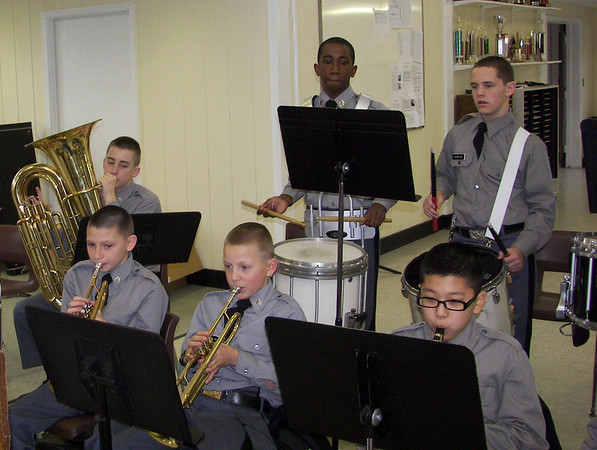 Middle School Band Practice