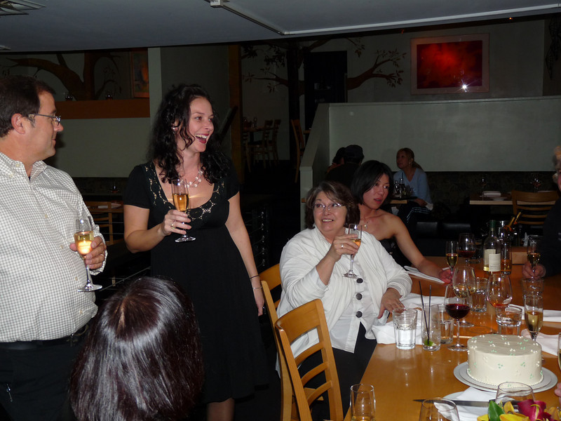 Courtney toasts