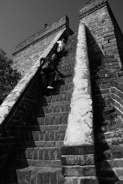 Ascending the wall, China