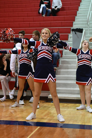 Cheer at Lincoln Christian Basketball