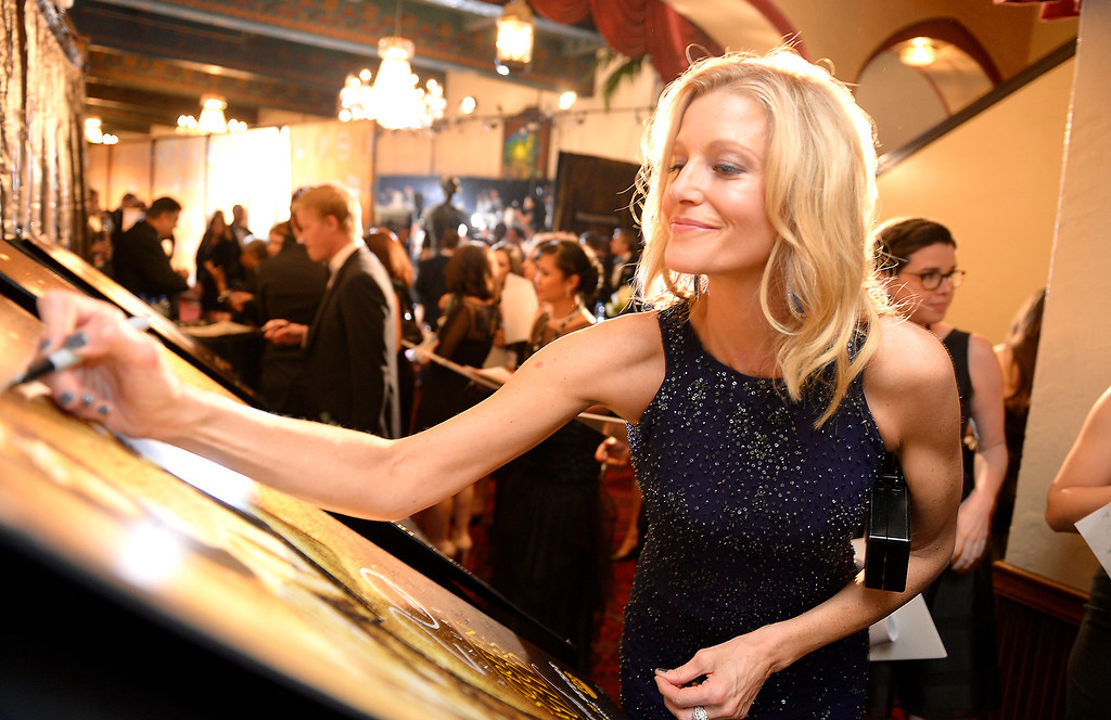 . Anna Gunn backstage at the 20th Annual Screen Actors Guild Awards  at the Shrine Auditorium in Los Angeles, California on Saturday January 18, 2014 (Photo by Michael Owen Baker / Los Angeles Daily News)