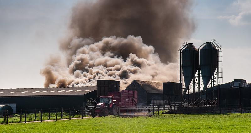Barn fire in Somerset
