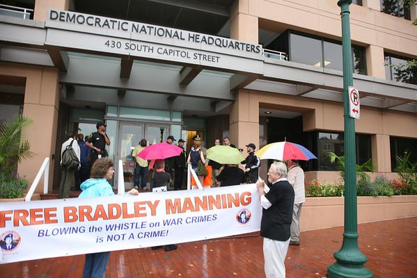 Democratic National Headquarters Washington D.C. Bradley Manning Action Sept 6,2012