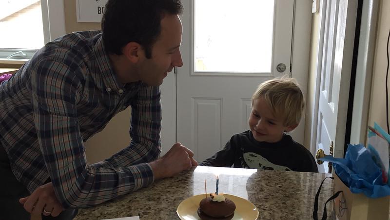 Celebrating Michael's birthday