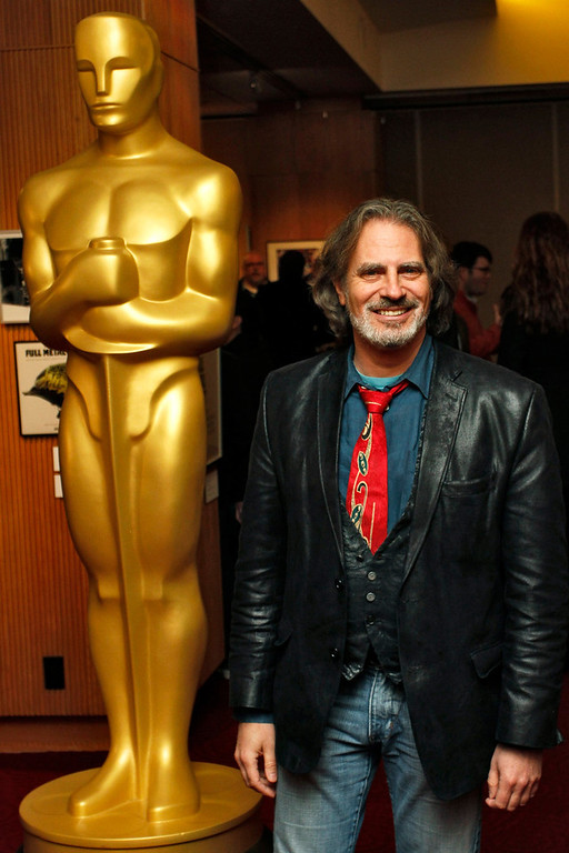 """. David Silverman, filmmaker of the Animated Short Film nominee \""""Maggie Simpson in \'The Longest Daycare\"""", arrives at Oscar Celebrates: Shorts, featuring this year\'s Oscar-nominated films in the Animated and Live-Action Short Film categories at the Academy of Motion Picture Arts and Sciences in Beverly Hills, California, February 19, 2013. REUTERS/Jonathan Alcorn"""