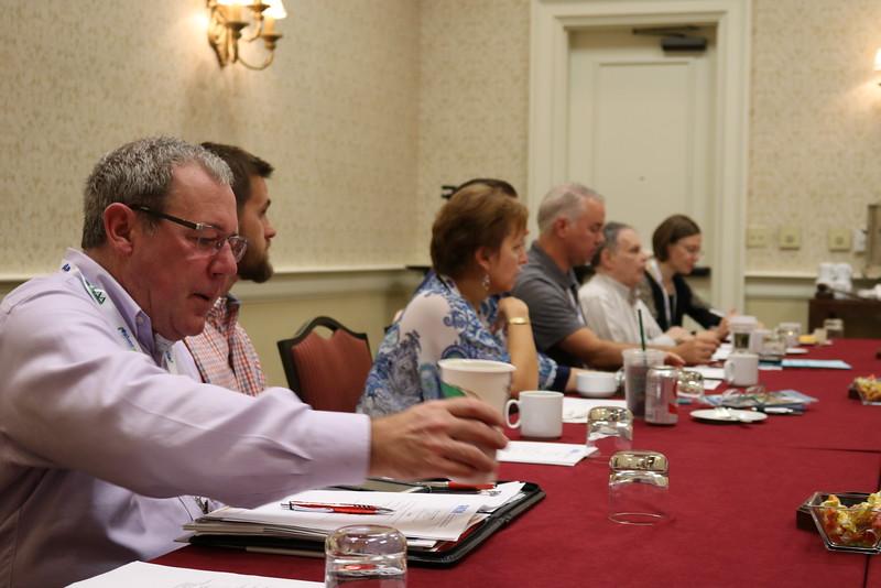 Board Members hard at work Paul Hvizda, Ryan Dailey, Lori Parker, Bob Reynolds, Matt Morris, Elena Badiuzzi