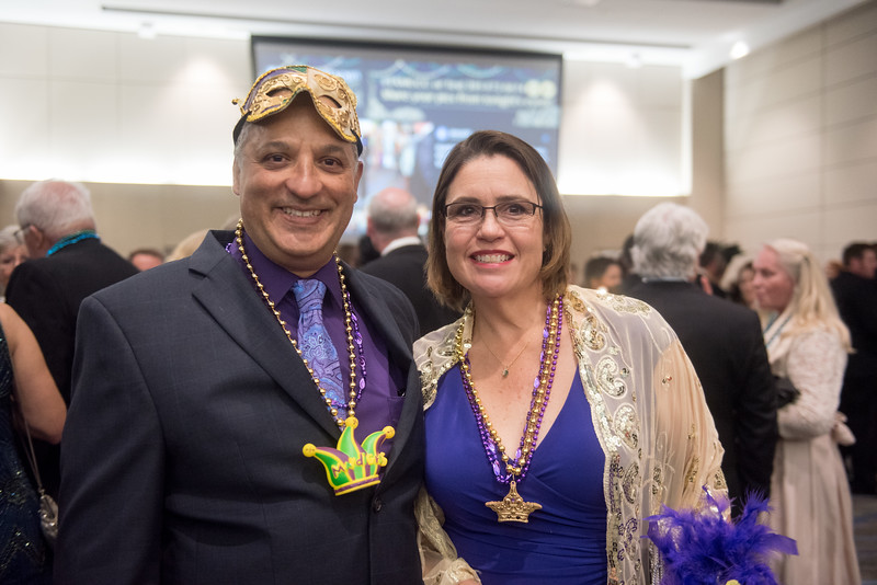 Rick and Melissa Ricard. Saturday February 25, 2017 at TAMU-CC during the annual President's Mardi Gras Ball.