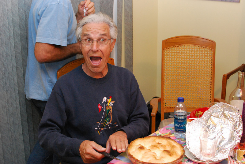 Papa - happy to see Kathy's apple pie.