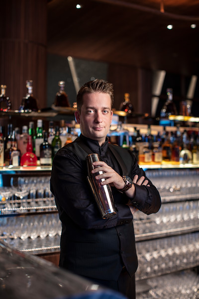 Norbert Szász, bar manager at Voyages by Alain Ducasse restaurant bar in Morpheus Macau.