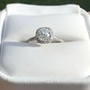 1.13ct Old Mine Cut Halo Ring, GIA M SI1 11
