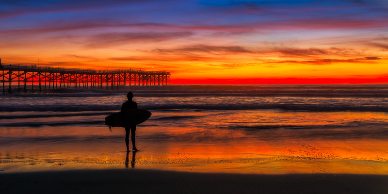 Crystal Pier Surfer