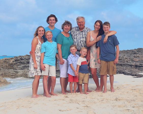 Frank Family.  Exuma Bahamas Vacation Photo Shoot