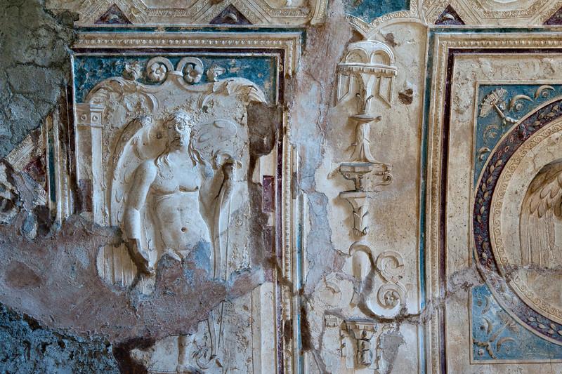 Art on walls in Pompeii, Italy
