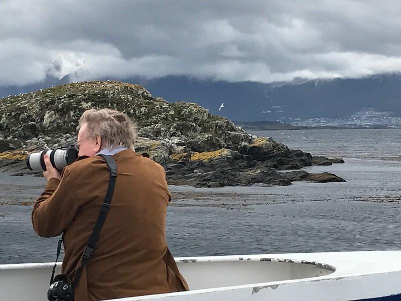 George photographing Ushuaia, Argentina - Jennifer Caputo