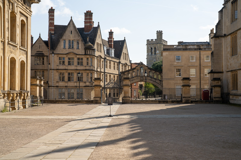 View Towards The Bridge of Sighs, Oxford