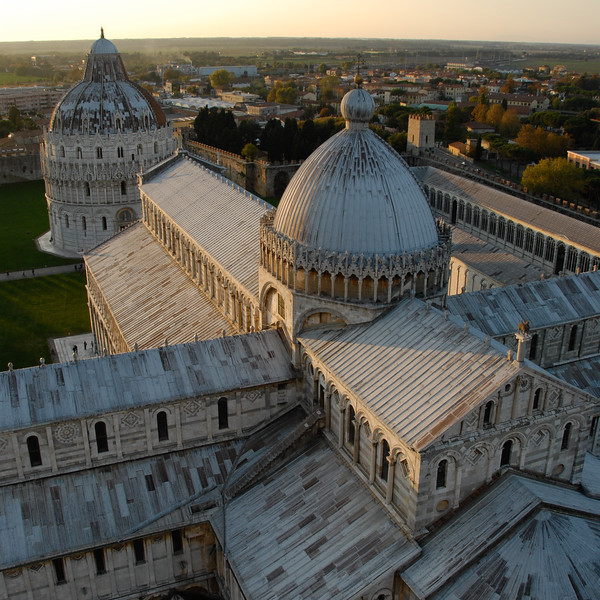 View from top of leaning tower of Pisa