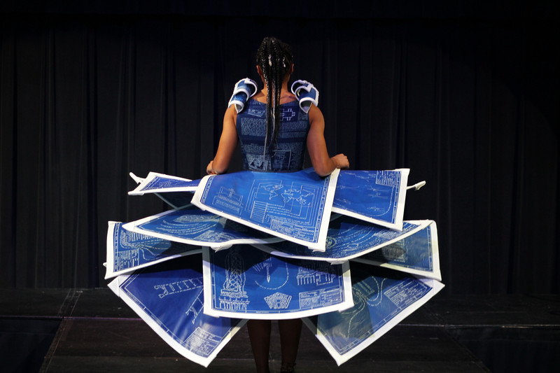 Stephanie Lael Barrick's Bible App Runway Show and Artist Talk in the Tucker Student Center.