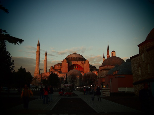 Hagia Sofia, in all its pink glory