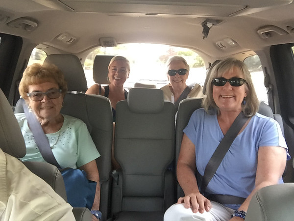 Off to lunch at El Pueblito (last group outing in the Honda Odyssey)