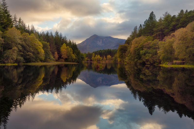 Glencoe Lochan autumn colors reflection scotland forest.jpg