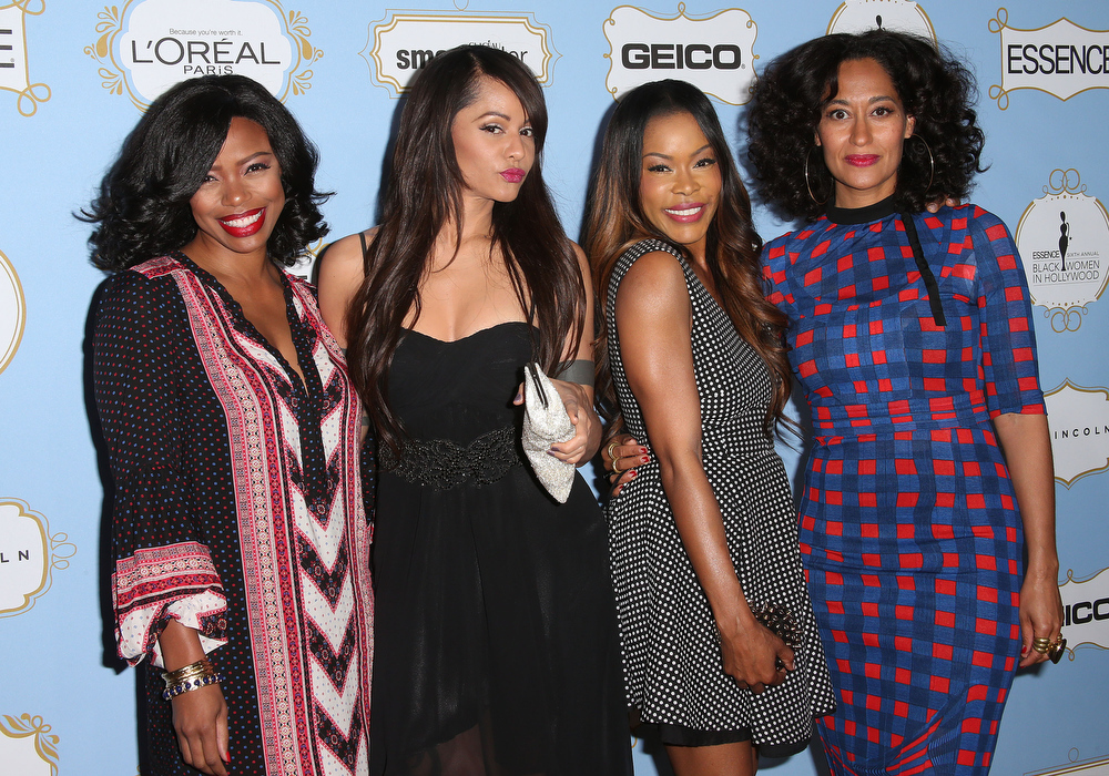 . Actresses Jill Marie Jones, Persia White, Golden Brooks and Tracee Ellis Ross attend the Sixth Annual ESSENCE Black Women In Hollywood Awards Luncheon at the Beverly Hills Hotel on February 21, 2013 in Beverly Hills, California.  (Photo by Frederick M. Brown/Getty Images)