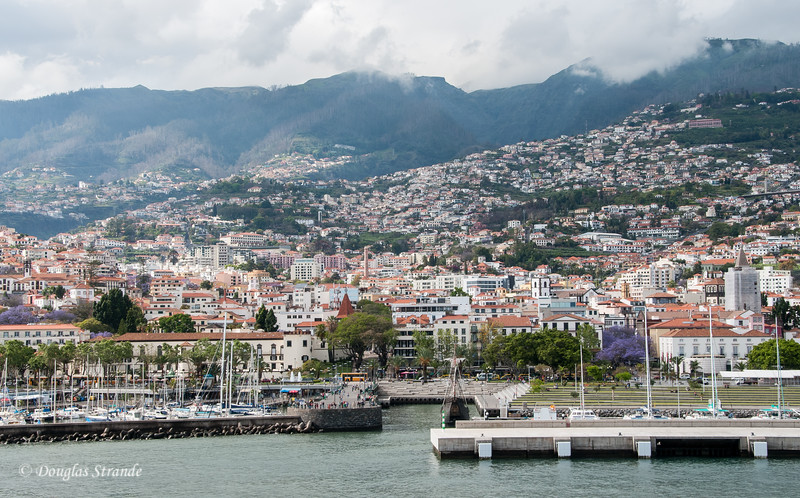Island of Madeira - viewing Funchal from the our ship