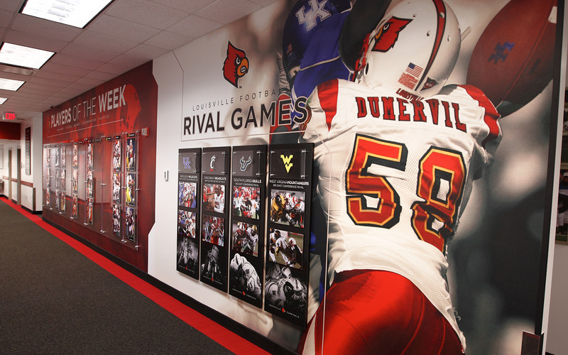 2011 - LOUISVILLE FOOTBALL PLAYER OF THE WEEK AND RIVAL DISPLAYS | design by David Klotz