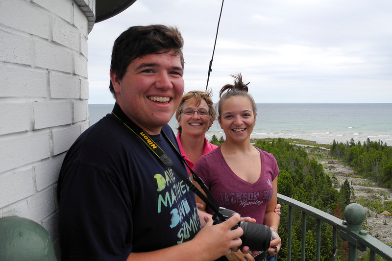 On top of the New Presque Isle Light